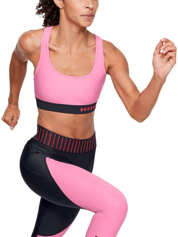 Under Armour - Sujetador deportivo de impacto medio Armour® Crossback para mujer - Mujer - Sujetadores deportivos - Rosa - XS