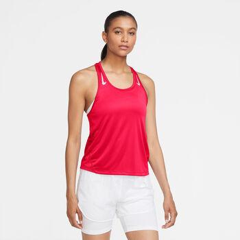 Nike Camiseta de tirantes Miler Racer mujer Rojo