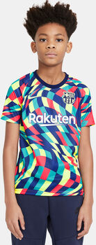 Camiseta de calentamiento F.C. Barcelona Nike Dri-FIT 2020/2021  Azul