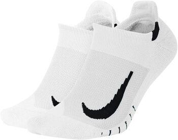 Nike Calcetines Cortos Running Multiplier (2 Pares) Blanco