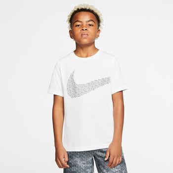 Nike Camiseta manga corta swoosh niño Blanco