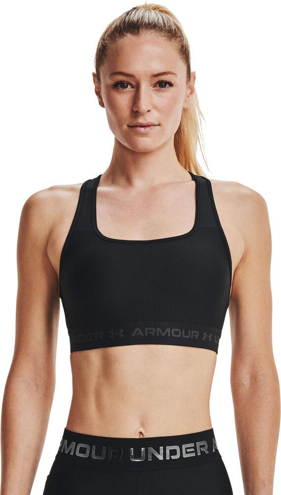 Under Armour - Sujetador deportivo Crossback MID - Mujer - Sujetadores deportivos - Negro - L