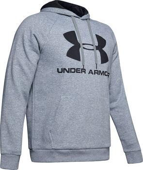 Under Armour Sudadera con capucha de tejido Fleece y logotipo UA Rival hombre Gris