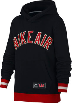 Nike Air Boys' Long-Sleeve Fleece Top  niño Negro