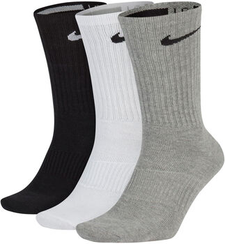 Nike Calcetines Perfect Lightweight Crew Training (3 Pares) Blanco