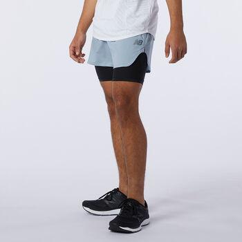 New Balance Pantalón corto Q Speed Fuel 2in1 hombre Beige