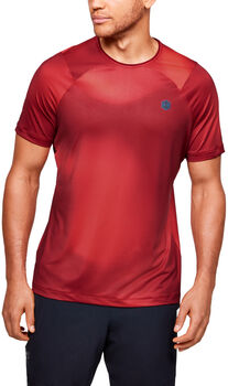 Under Armour Camiseta de manga corta con estampado UA RUSH™ HeatGear® Fitted para hombre Rojo