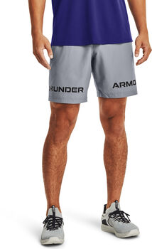 Under Armour Pantalón corto Woven Graphic Wordmark hombre Gris