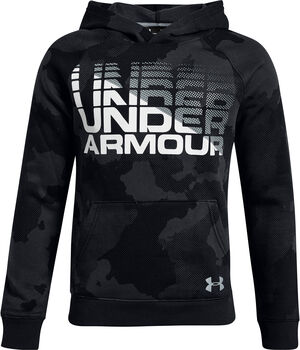 Under Armour Sudadera con capuchaRival Fleece Wordmark para niño Negro