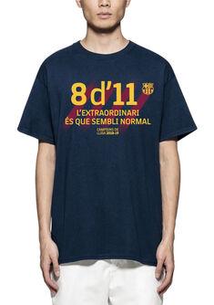 Camiseta manga corta Barça de campeones liga 2018-19