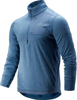 New Balance Camiseta m/l NB HEAT QTR ZIP hombre Azul