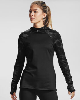 Under Armour Sudadera con capucha ColdGear® Armour Camo mujer Negro