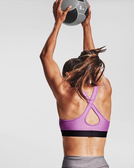 Sujetador deportivo de impacto medio Armour® Crossback para mujer