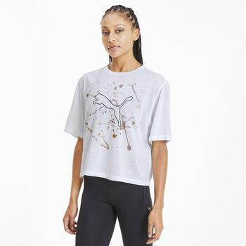 Puma Camiseta Manga Corta Metal Splash Graphic Tee mujer Blanco
