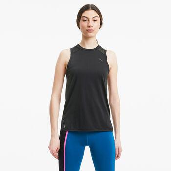 Puma Camiseta de manga corta training Mesh Panel mujer Negro