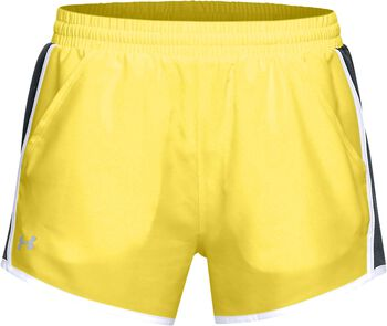 Under Armour Fly by Short Mujer Amarillo