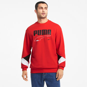 Puma Sudadera Rebel Crew hombre Rojo