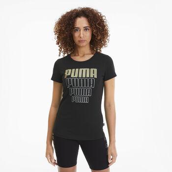 Puma Camiseta Manga Corta Rebel Graphic  mujer