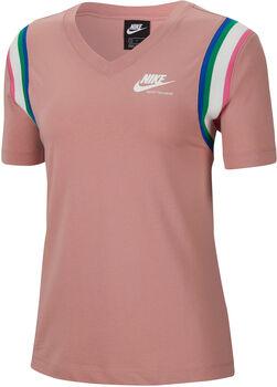 Nike Camiseta Manga Corta Heritage mujer Rojo