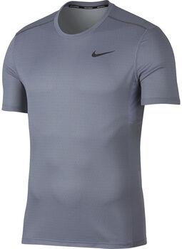 Nike miler tech top ss hombre Azul