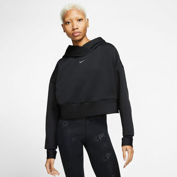 Nike Sudadera Pro Women's Fleece Hoodie mujer Negro