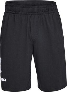 Under Armour Pantalón corto de algodón con gráfico Sportstyle hombre Negro