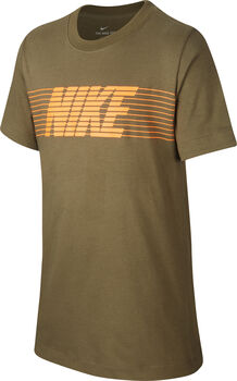 Nike Camiseta m/c B NSW TEE THERMA FLEECE niño Marrón