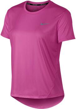 Nike Camiseta m/c W NK MILER TOP SS mujer Rosa