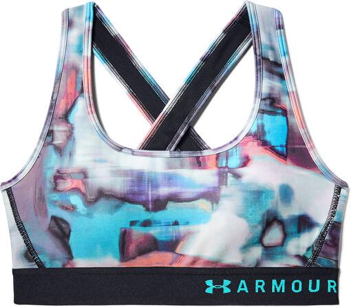 Under Armour - Sujetador deportivo de impacto medio Armour® Crossback Print para mujer - Mujer - Sujetadores deportivos - XS
