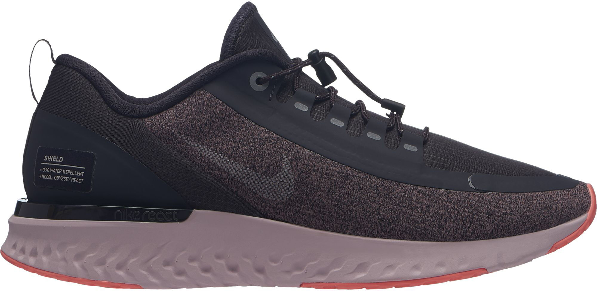reputable site 97a7c 10234 real nike odyssey react shield mujer negro bdbcc 8c90b