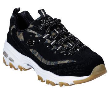 Skechers Zapatillas  D LITES QUIK LEOPARD mujer