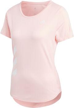 adidas Camiseta manga corta Run It Fast 3 bandas mujer