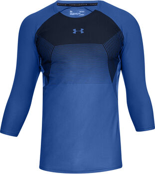 Under Armour Camiseta con manga ¾ UA Vanish para hombre Azul