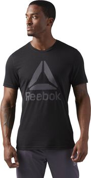Reebok Workout Ready Supremium 2.0 Tee Big Logo Hombre Negro