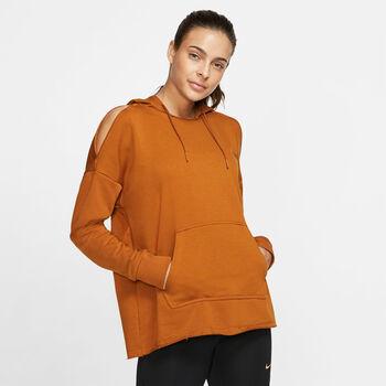 Nike Camiseta m/l W NK REBEL SLASH FLC HDIE GRX mujer