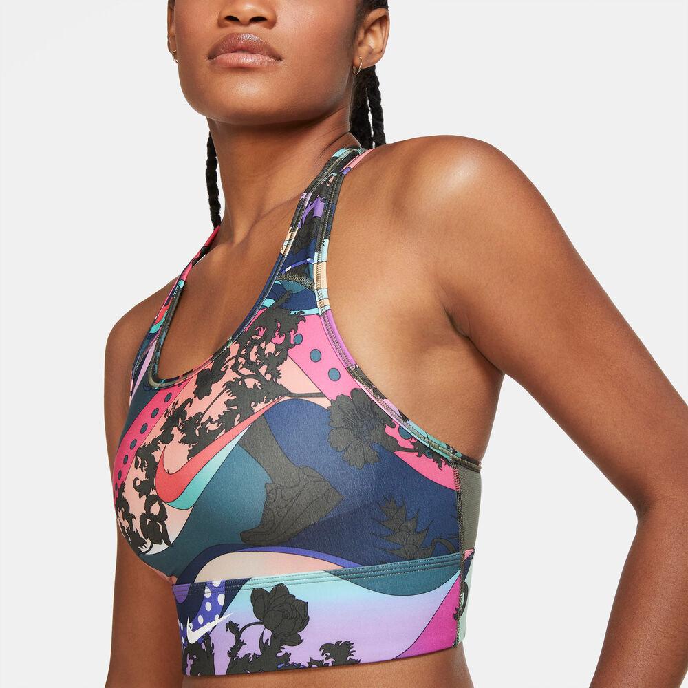 Nike -  Swoosh Icon Clash - Mujer - Sujetadores deportivos - Multicolor - L
