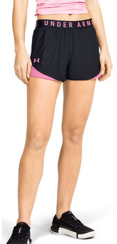 Under Armour Pantalón corto UA Play Up 3.0 para mujer Negro