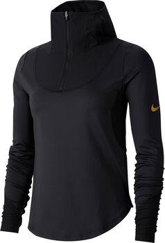 Nike Camiseta m/lNK TOP LS MIDLAYER GLAM mujer Negro