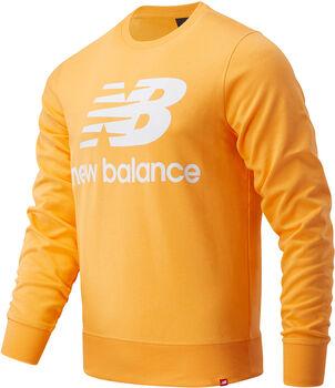 New Balance Sudadera Essentials Stacked Logo hombre Rojo
