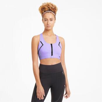 Puma Sujetador deportivo High Impact Front Zip mujer Púrpura
