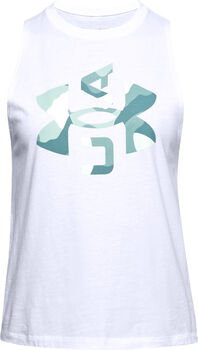 Under Armour Camiseta sin mangas con estampado UA Logo Muscle mujer Blanco