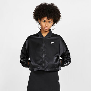 Nike ChaquetaNSW AIR TRK JKT SATIN mujer Negro
