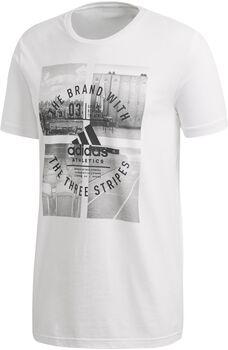 adidas Athletics Vibe Camiseta Manga Corta Hombre Blanco