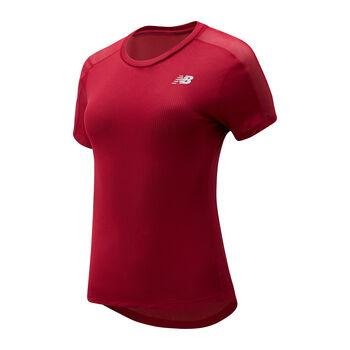 New Balance Camiseta manga corta Impact run mujer Rojo