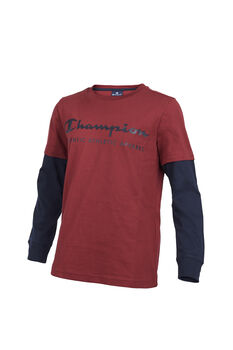 Champion Camiseta m/l Long Sleeve Crewneck T-Shirt niño
