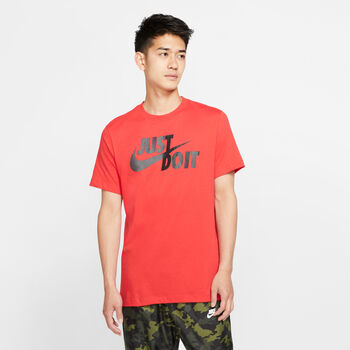 "Nike Camiseta Manga Corta ""Just Do It"" Swoosh hombre Rojo"