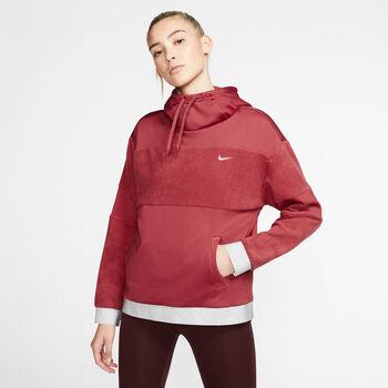 Nike SudaderaICON CLSH FLC PO HD mujer Rojo