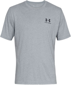 Under Armour Camiseta de manga cortaSportstyle Left Chest para hombre Gris