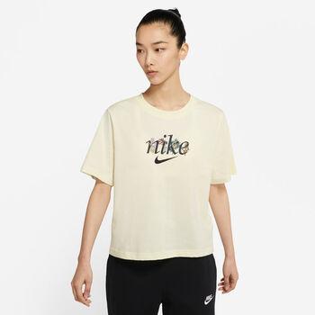 Nike Camiseta Manga Corta Boxy Nature mujer Beige