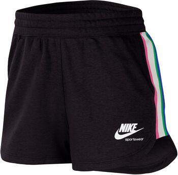 Nike Pantalón Corto Heritage Fleece mujer Negro